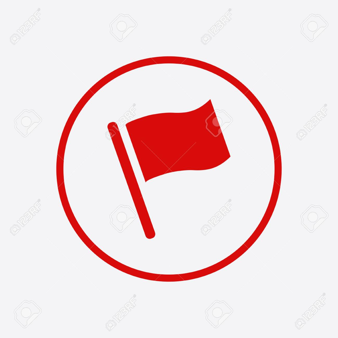 Flag icon  Location marker symbol  Flat design style