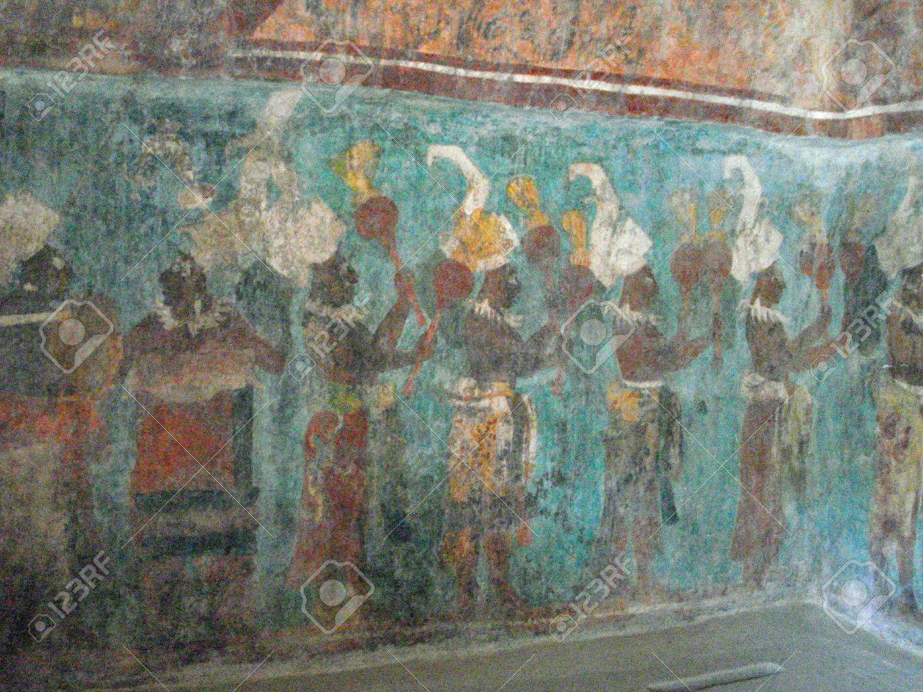 Mural At Bonampak