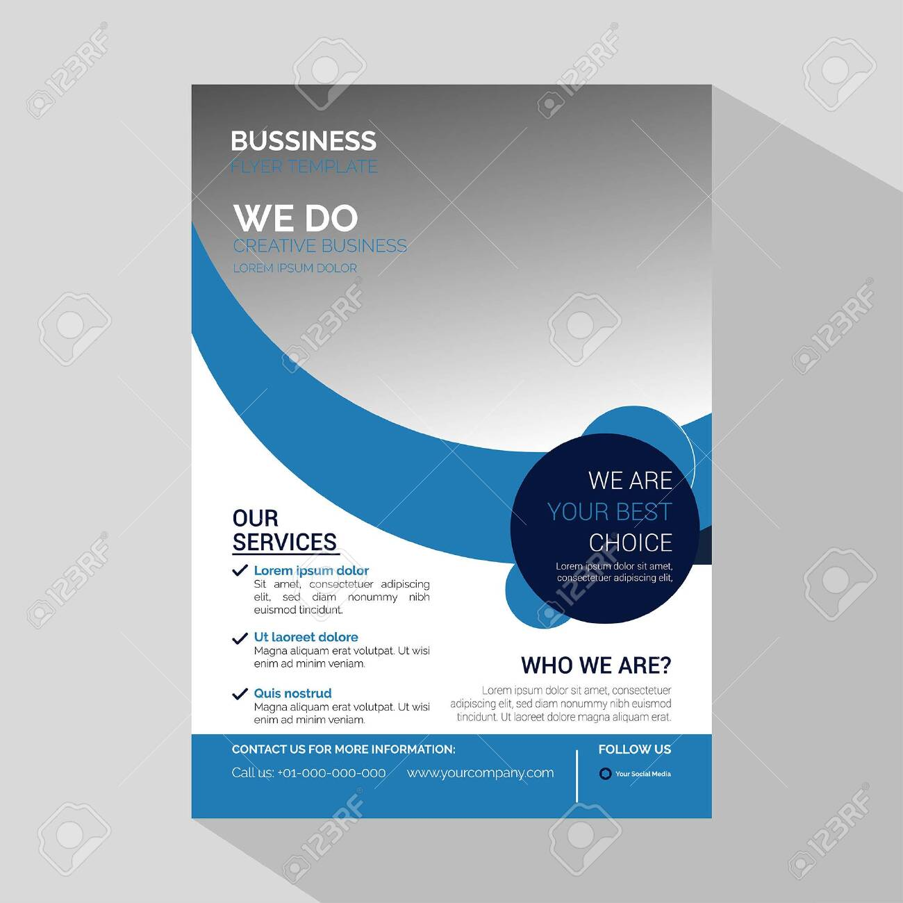 Modern Corporate Business Flyer & Corporate Business Template for Flyer - Vector - 130046739