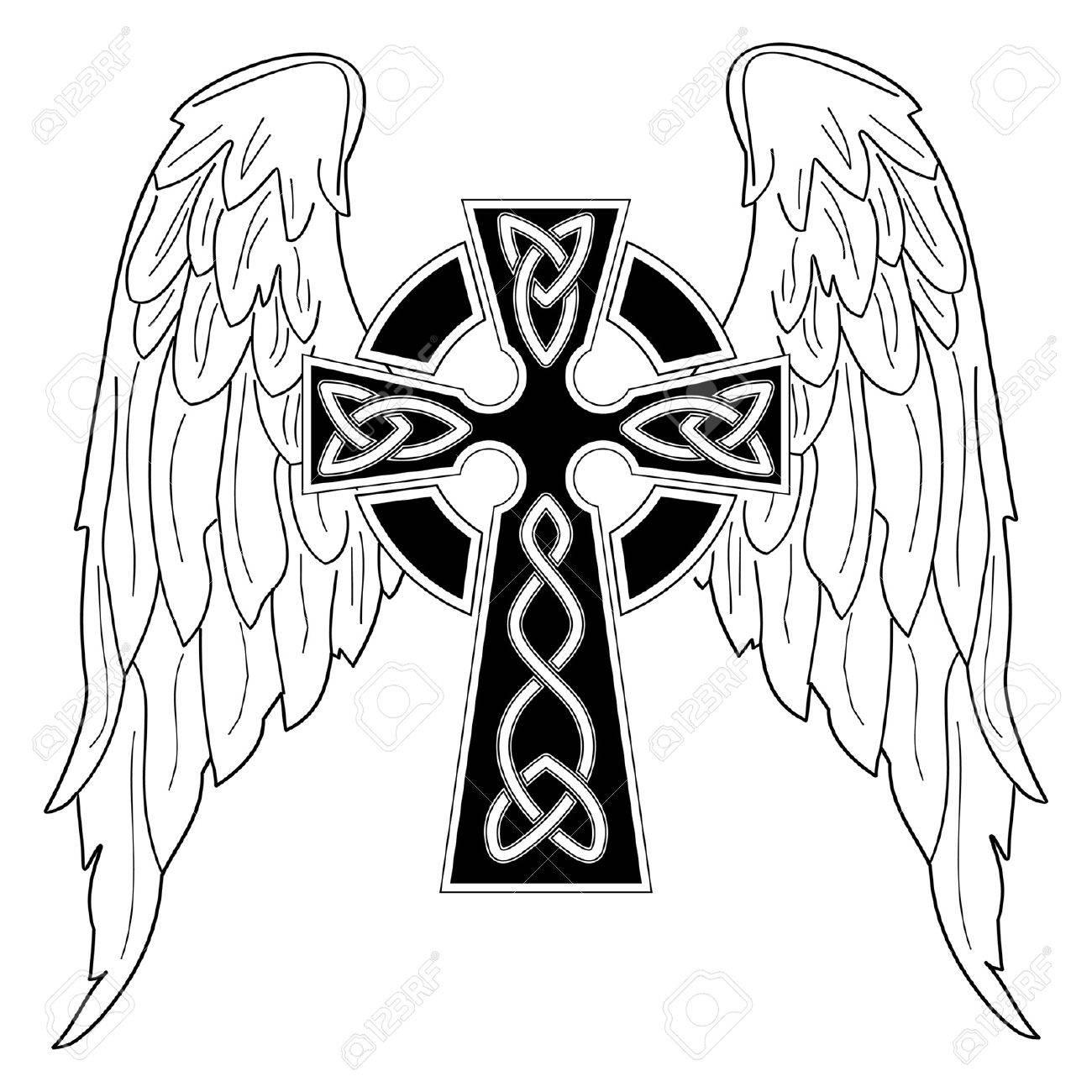 Тату чёрный крест