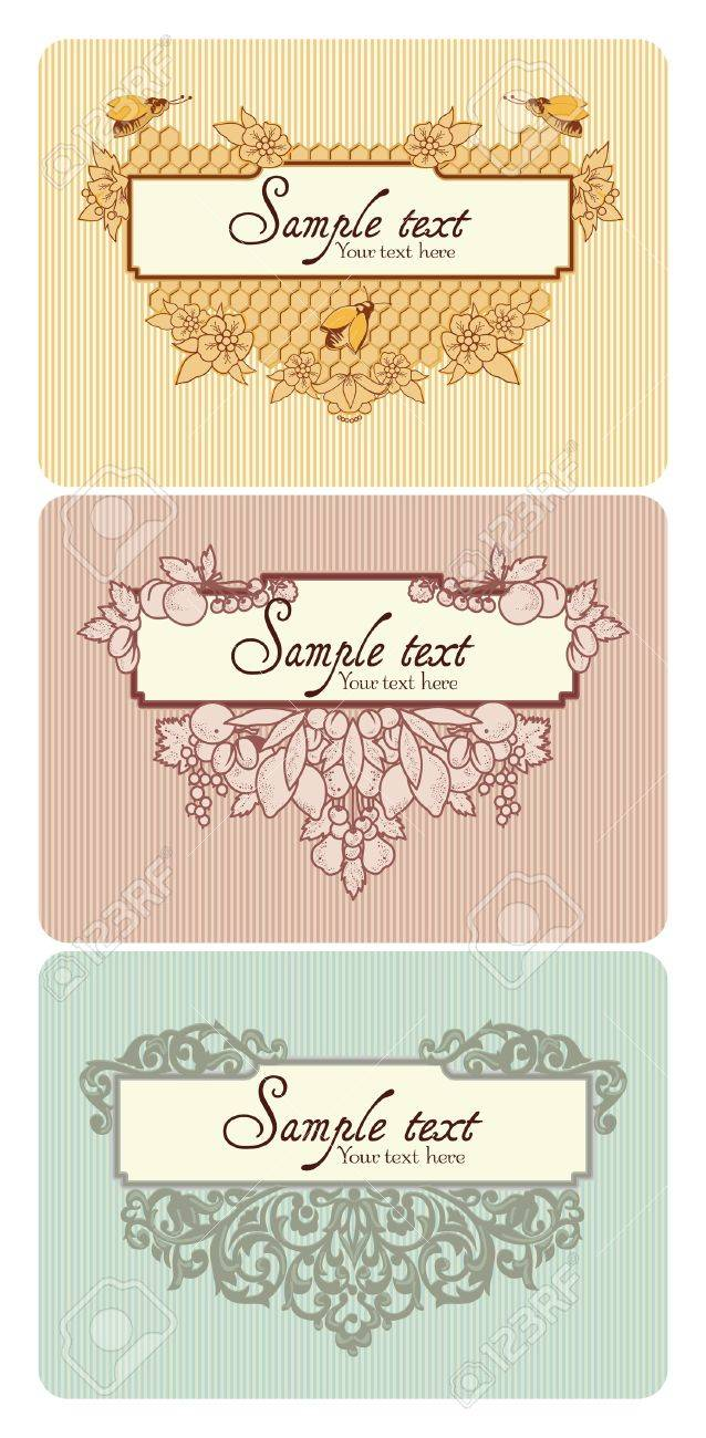 Different types of decorative elements combined in frame  With space for your text Stock Vector - 13227415