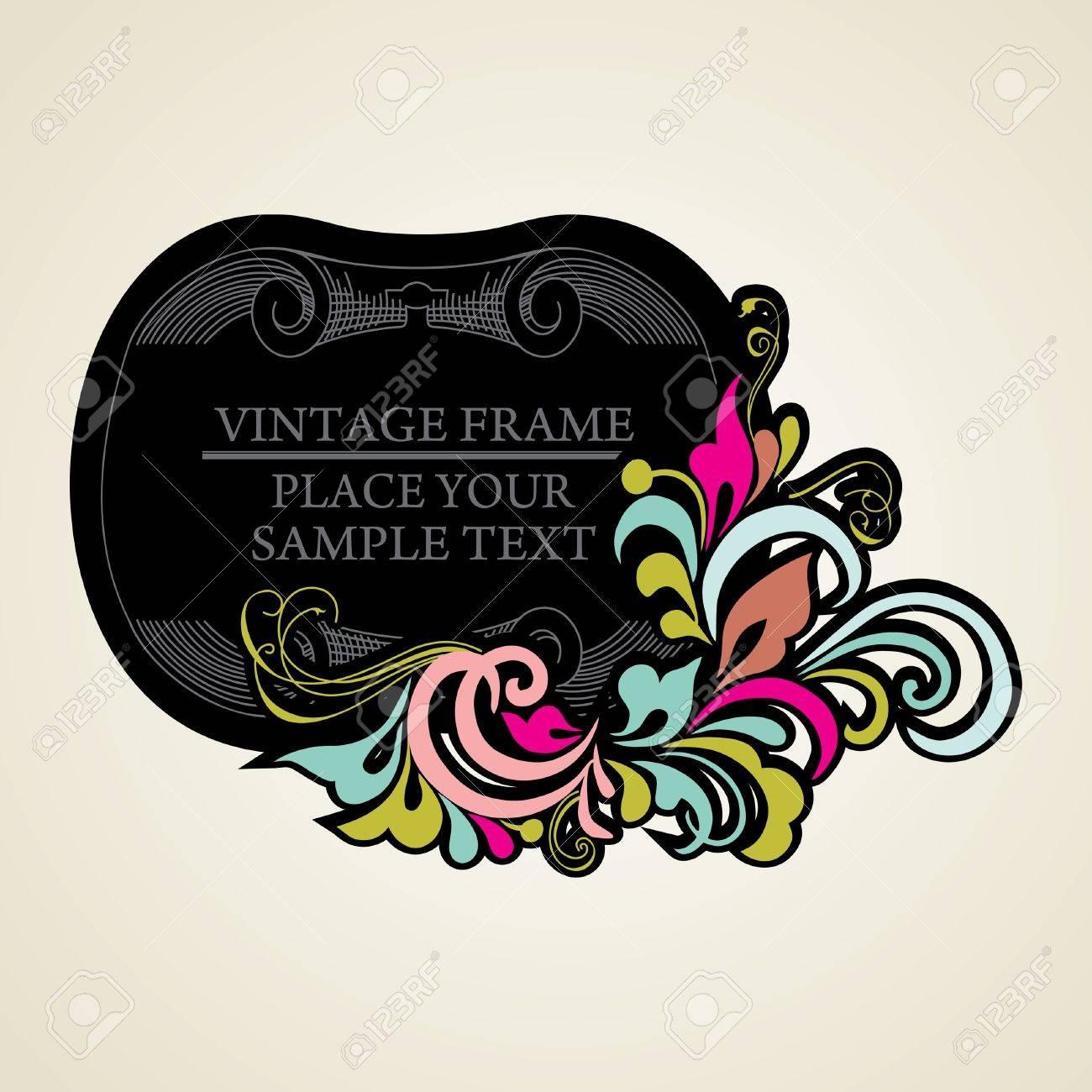Elegance vintage frames for your text Stock Vector - 13564696