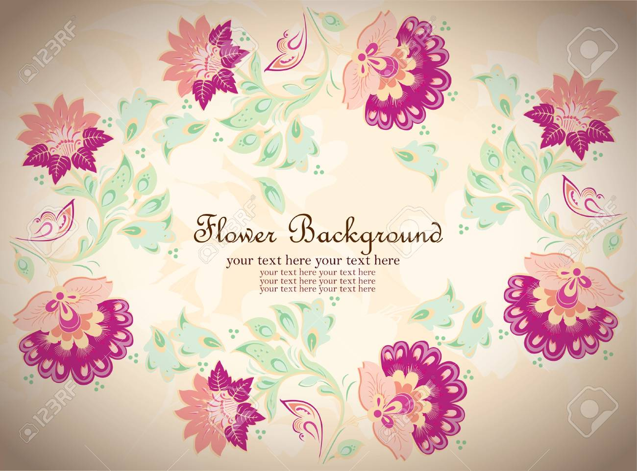 Floral background, greeting card Stock Vector - 13761621