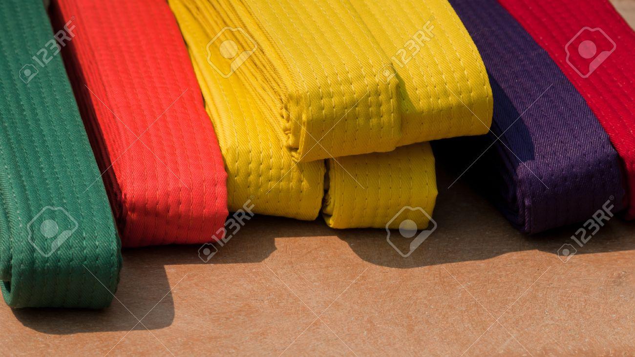 TaeKwonDo belts on the table. Stock Photo - 9742819