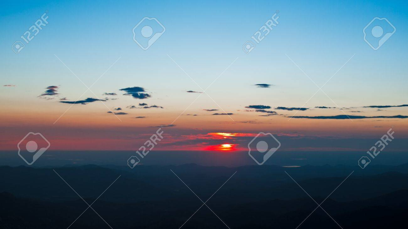 Sunrise at 13,000 feet you can see Denver from here. Mount Evans Wilderness, Front Range, Colorado. Stock Photo - 10657158
