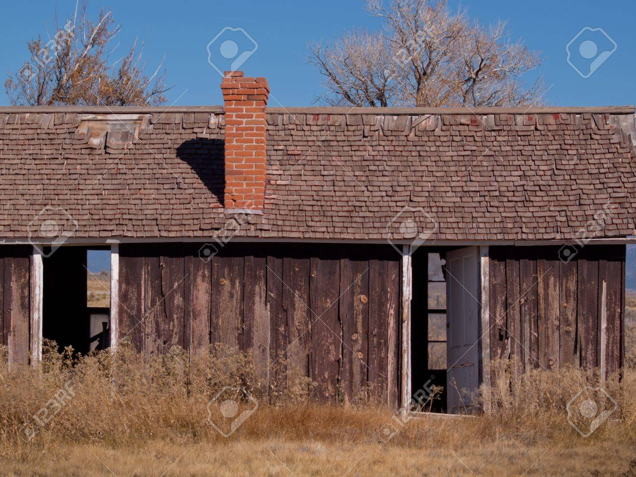 An abandoned structures on old Medano Ranch in Colorado. Stock Photo - 11100363
