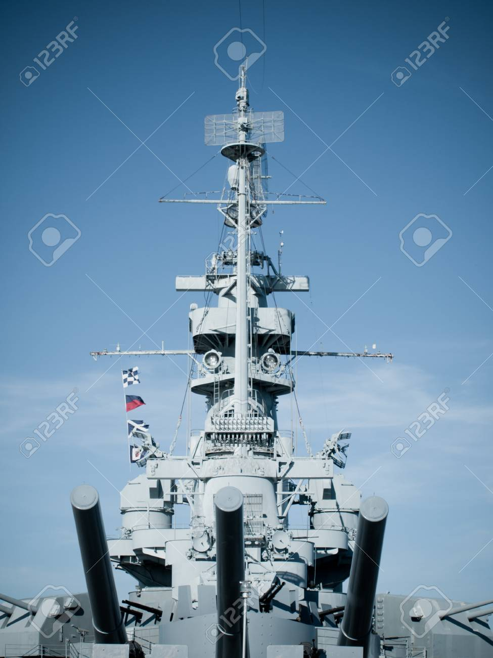 Battleship of US Navy at the museum in Mobile, AL. Stock Photo - 12412133