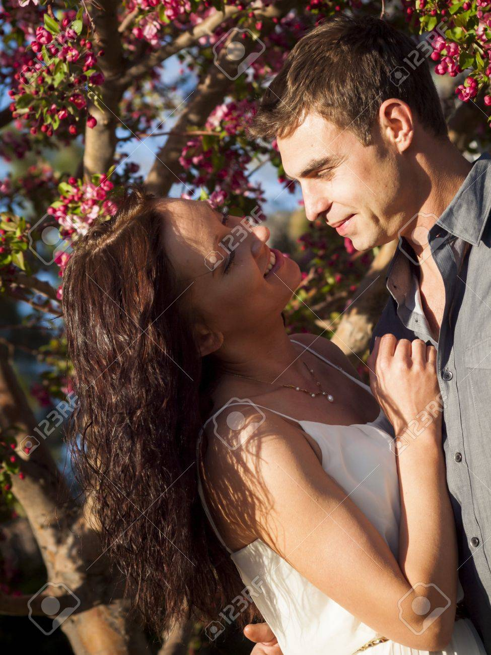 Happy young couple having fun in the park. Stock Photo - 13131057