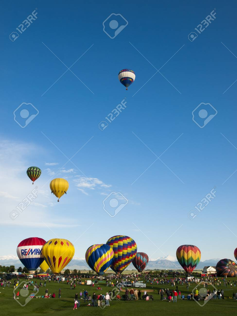 2012 Erie Town Fair and Balloon Festival. The balloon event is part of a day long street fair in the town of Erie. Stock Photo - 13790219