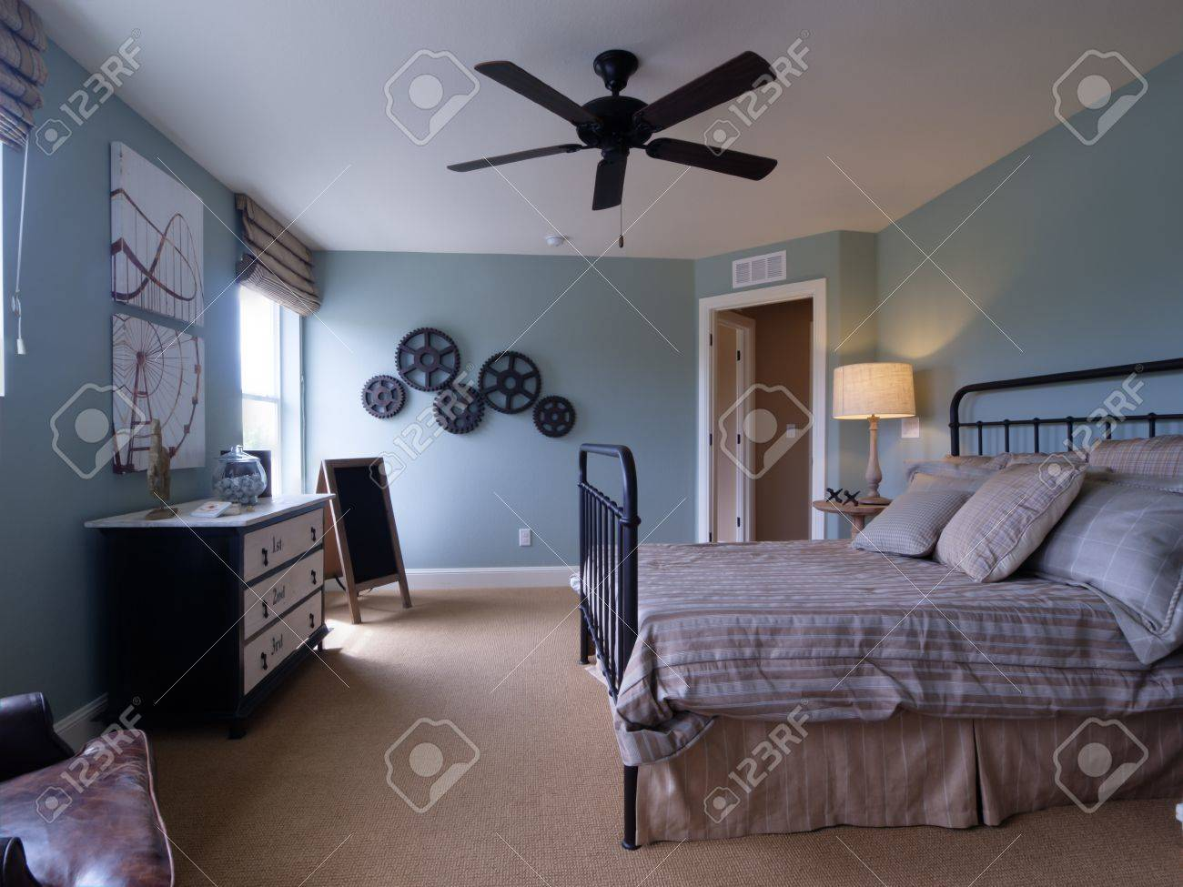 Modern kids room with blue walls. Stock Photo - 15079263