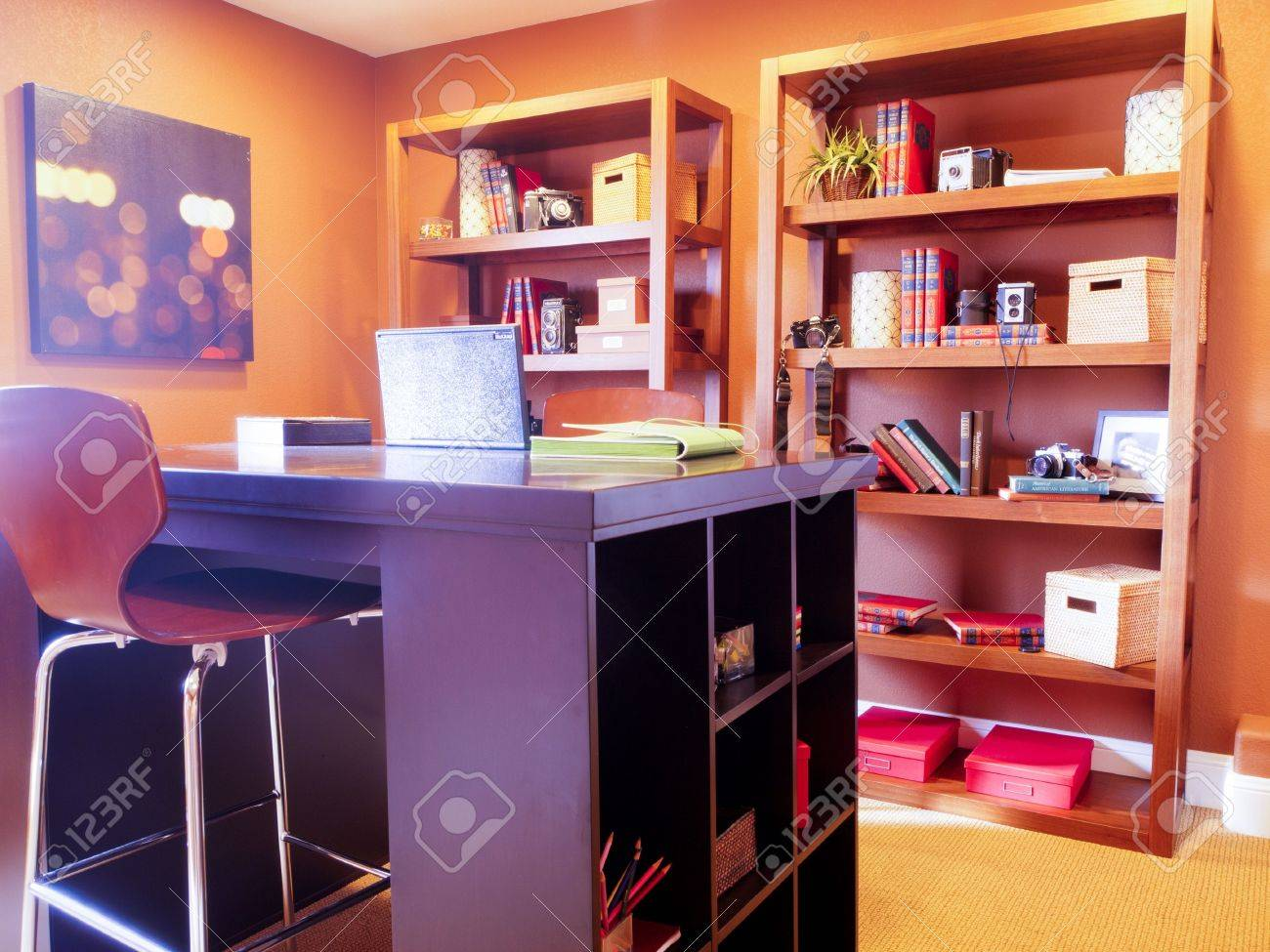 Modern home office in suburban home. Stock Photo - 15079277