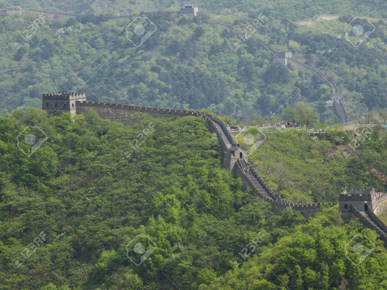 The Great Wall of China at the Mutianyu section near Beijing. Stock Photo - 16750452