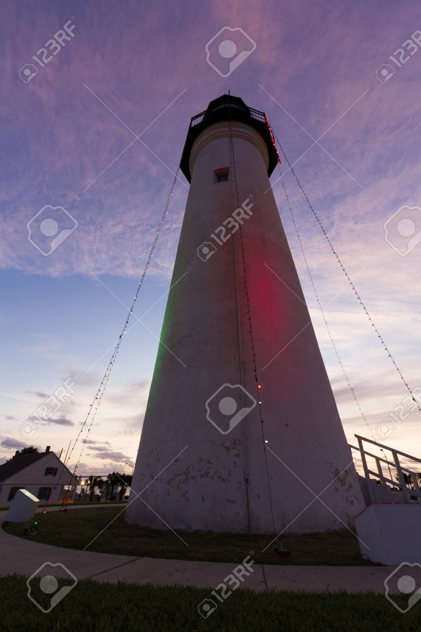 Port Isabel Lighthouse near South Parde Island, TX. Stock Photo - 17175284