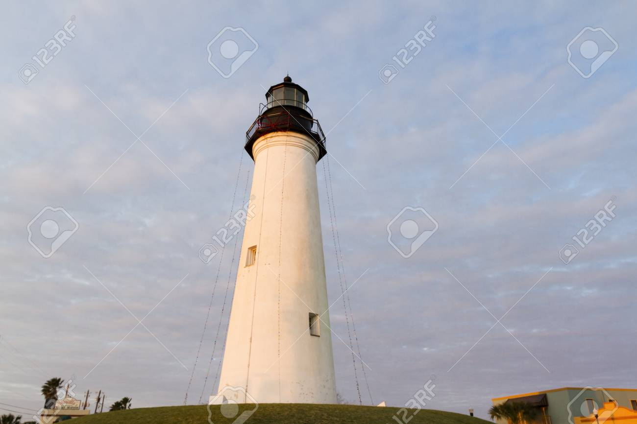 Port Isabel Lighthouse near South Parde Island, TX. Stock Photo - 17175271