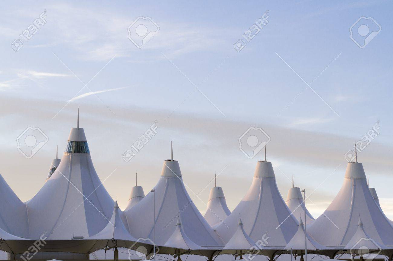 Denver International Airport Well Known For Peaked Roof. Design
