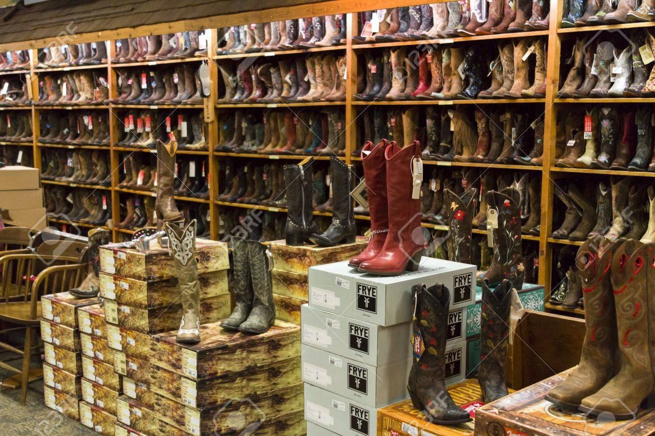 Cowboy Boots On Dispaly In The Store. Stock Photo, Picture And ...