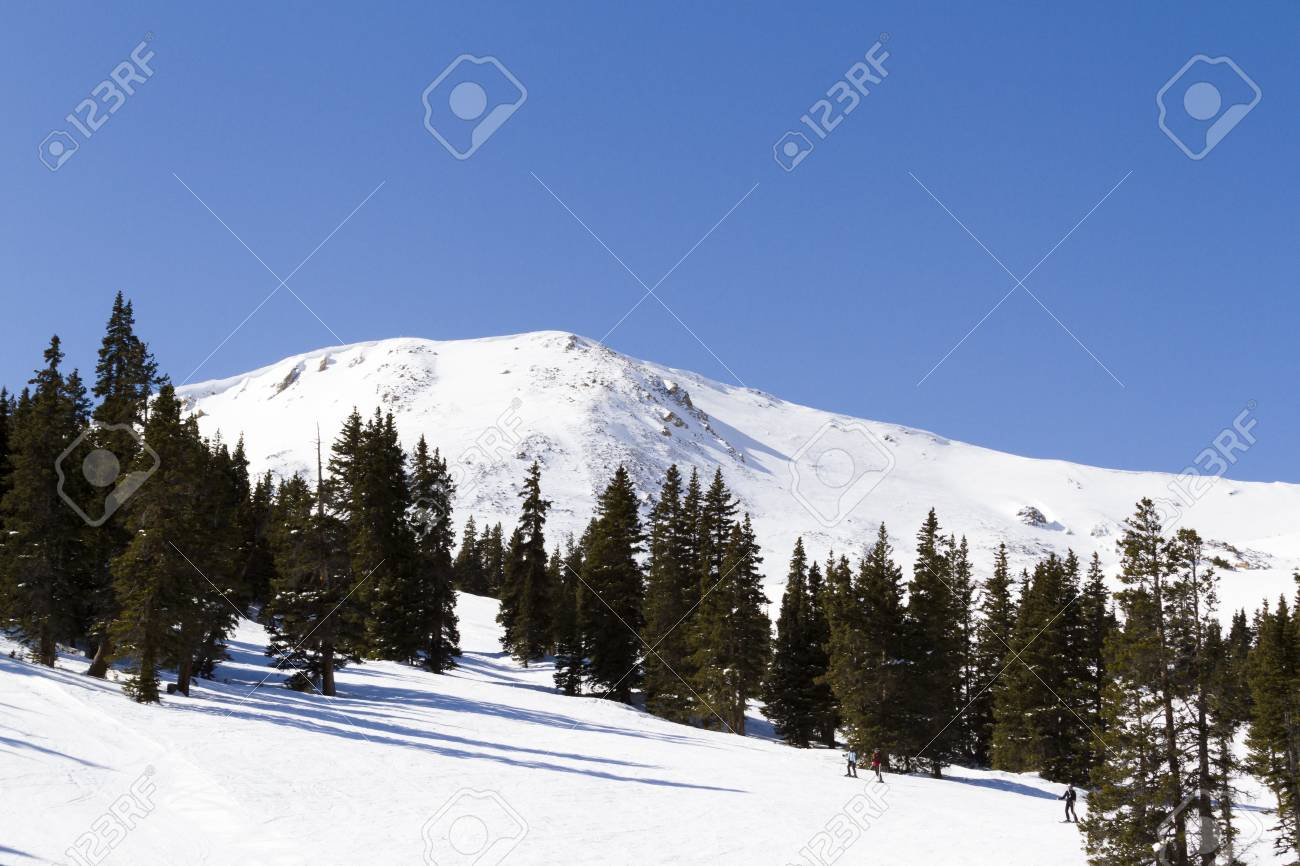 skiing at loveland ski resort, colorado. stock photo, picture and