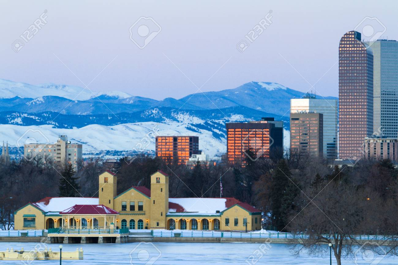 A view of downtown Denver before sunrise. Stock Photo - 18154876