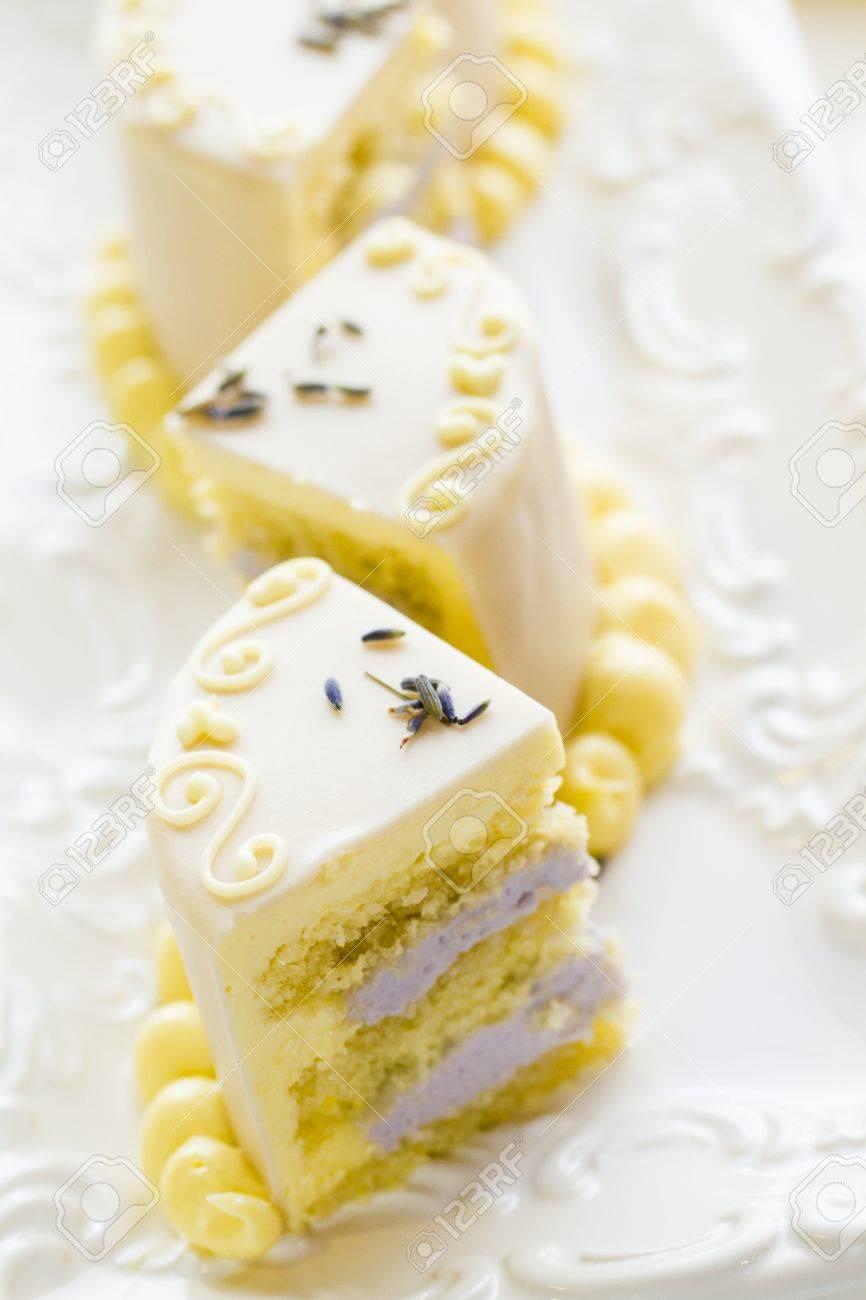 White Chocolate Honey Lavender Cake Made With Sponge Cake Infused ...