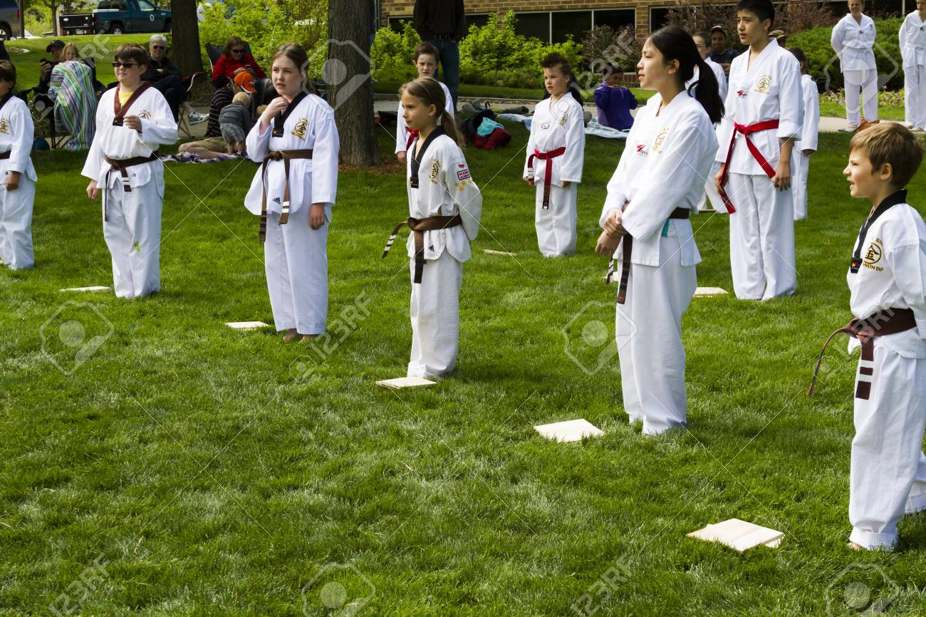 Tae Kwon Do Student Practicing In The Park Stock Photo Picture And Royalty Free Image Image 20159433