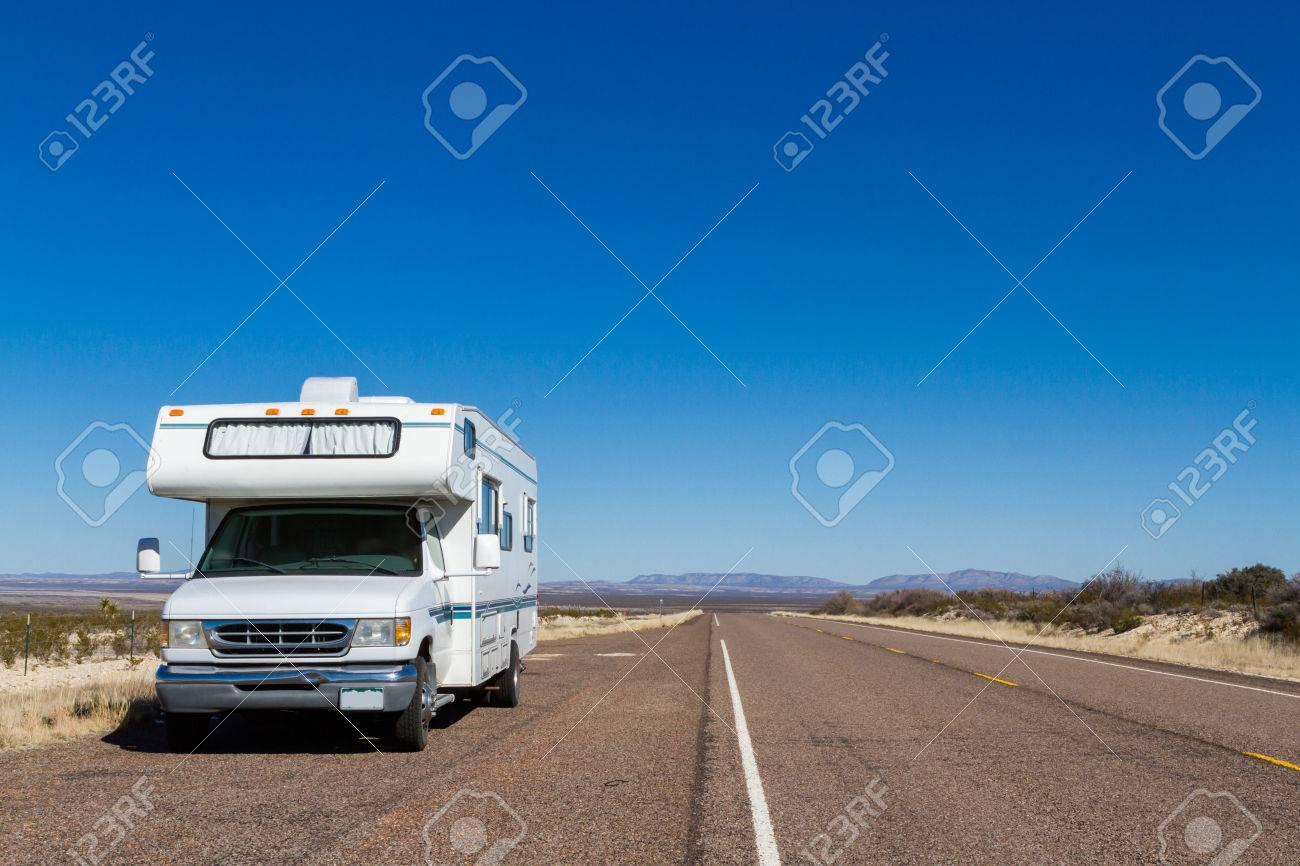 Class C motorohome in the desert. Stock Photo - 25065444