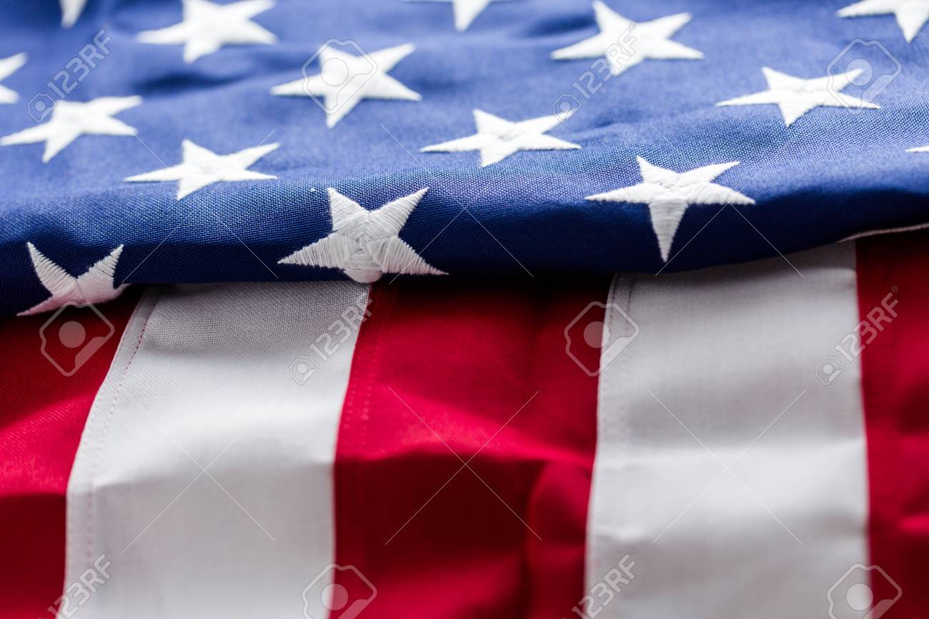 b26087ccfdf3 Tight closeup of the stars and stripes of an American Flag. Stock Photo -  30527982