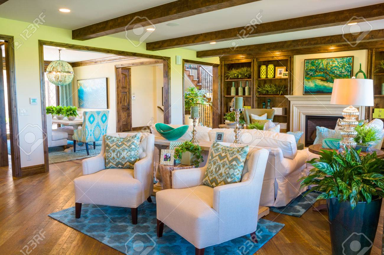 Denver, Colorado, USA August 7, 2014. Luxury Interior Of Typical American