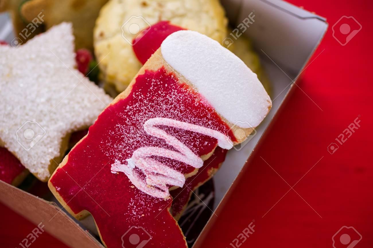 Biscotti Come Regalo Di Natale.Immagini Stock Varieta Di Biscotti Di Natale Come Regalo Di Cibo