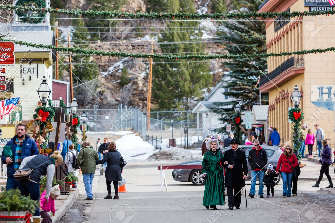 Georgetown, Colorado, USA-December 6, 2014. Annual Christmas ...