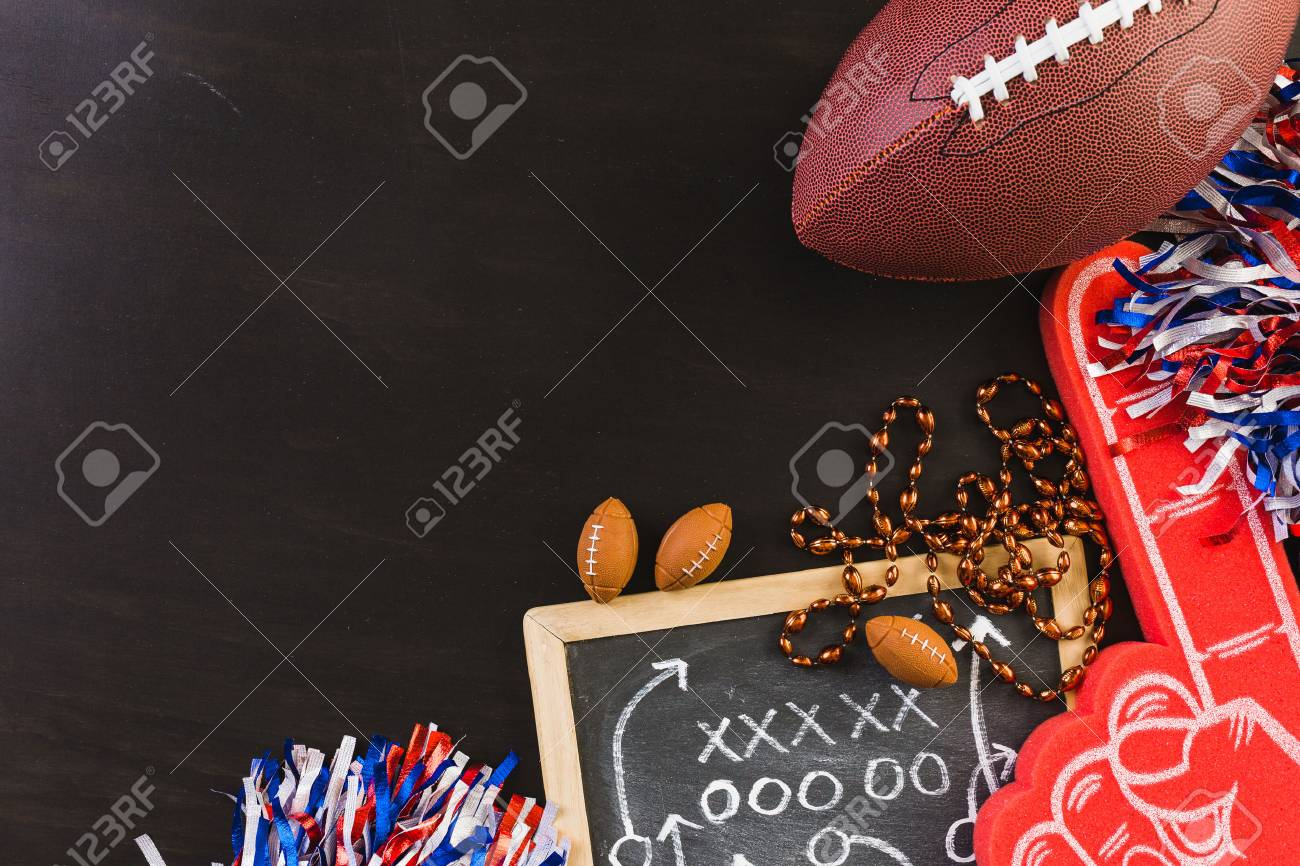 Game day football party table. - 68091321