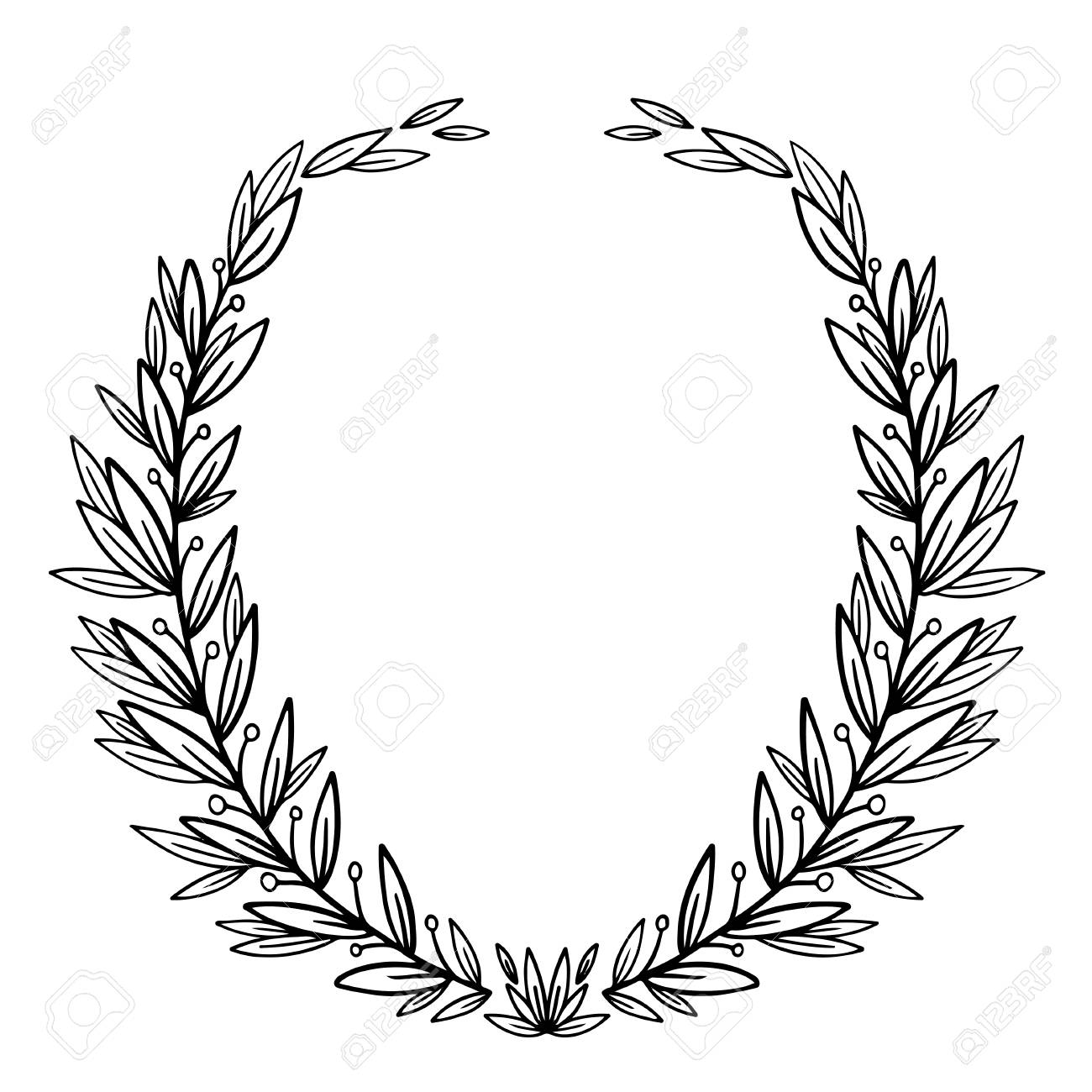 vector nature frame graphic circle wreath for text illustration royalty free cliparts vectors and stock illustration image 106686118 vector nature frame graphic circle wreath for text illustration