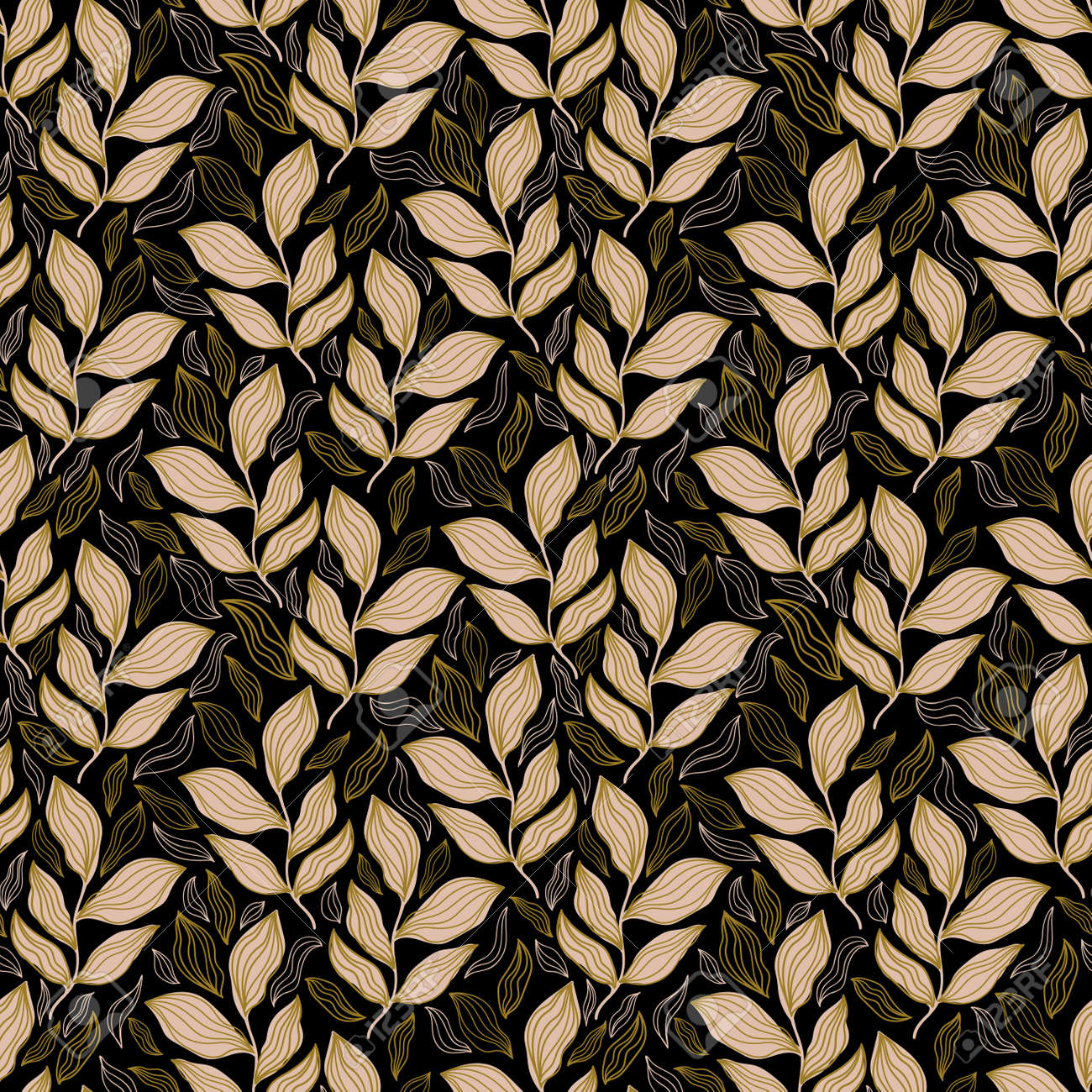 Seamless pattern floral abstract.Botanical vintage nature background.Print fashion textile. - 169556212
