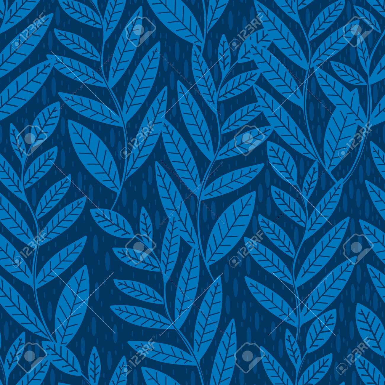 Seamless pattern leaves plant .Floral motif nature abstract print.Modern summer background. - 170424791