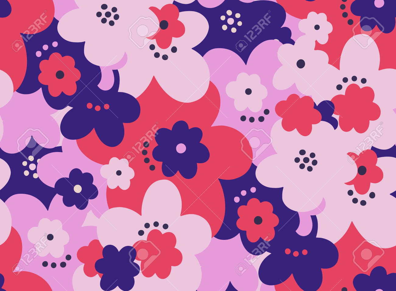 Seamless pattern floral flower abstract.Botanical vintage nature background.Print fashion textile. - 171303271