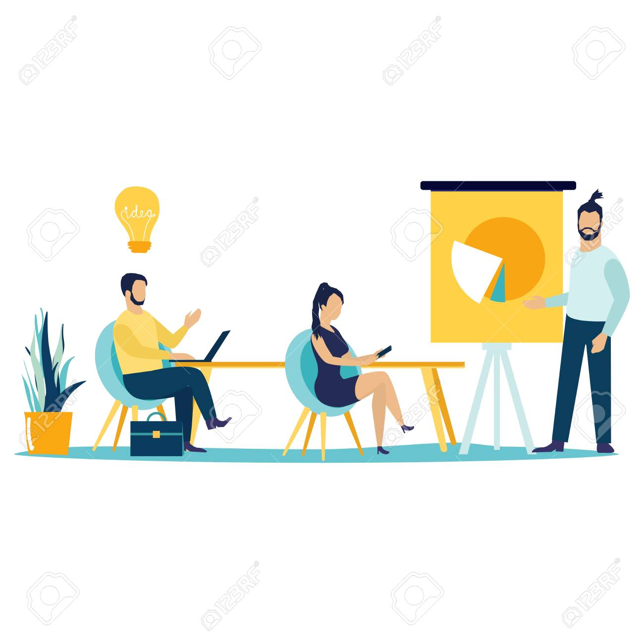 business teamwork concept man making presentation on conference