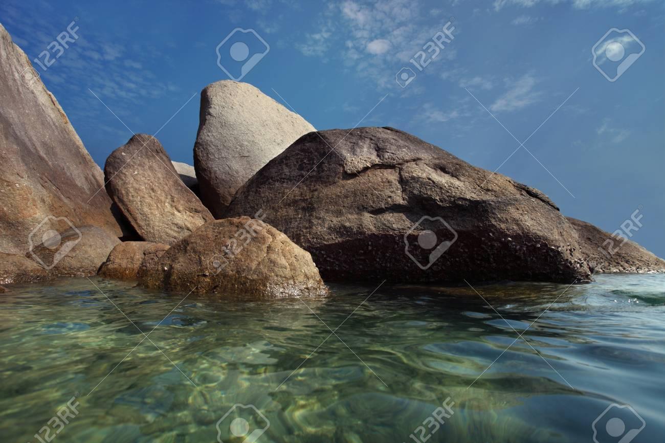 granite stone on beach Stock Photo - 10630790