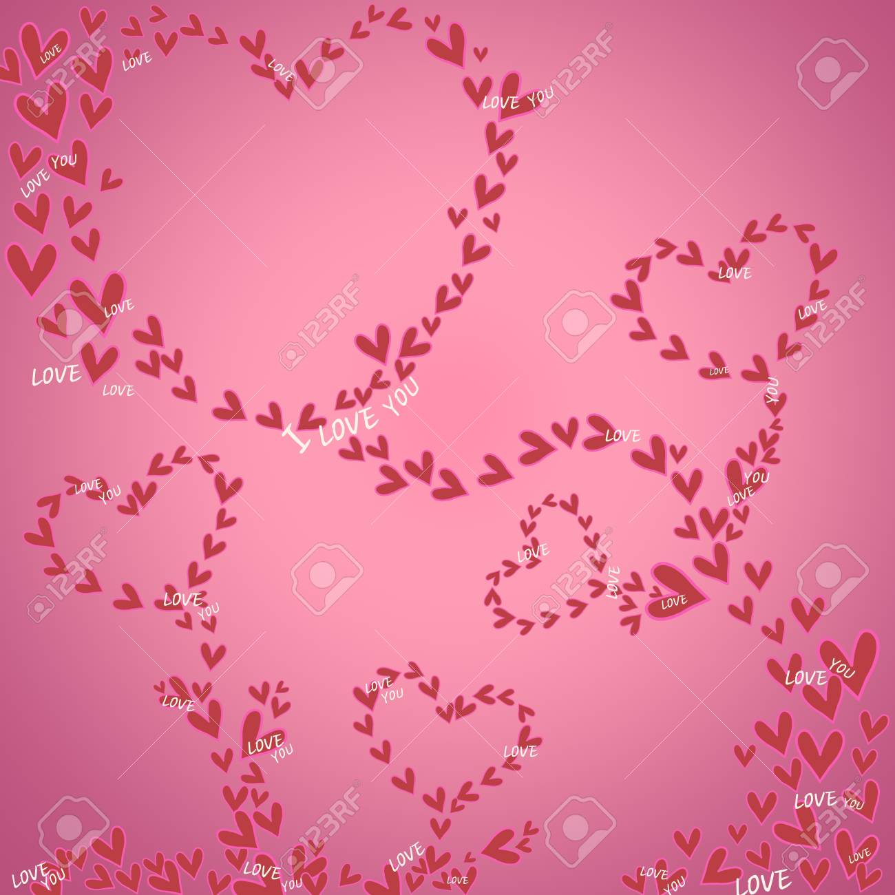 Mini Heart With Pink On Background For Banner Valentine Day Design