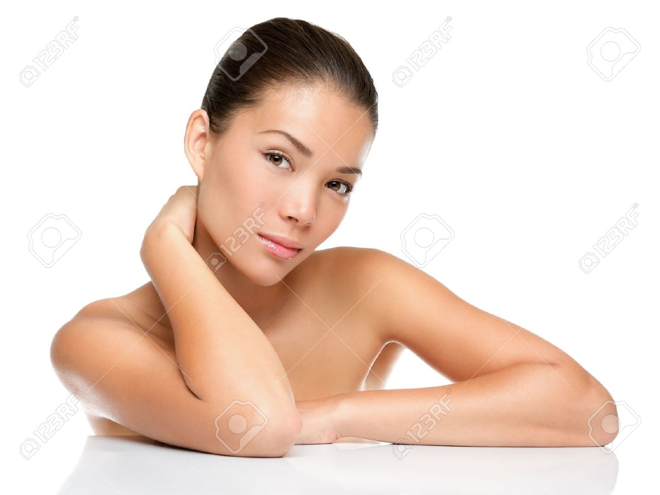 Beauty Face Skin Care Woman Sitting Portrait Of Beautiful Attractive Stock Photo Picture And Royalty Free Image Image 10440643
