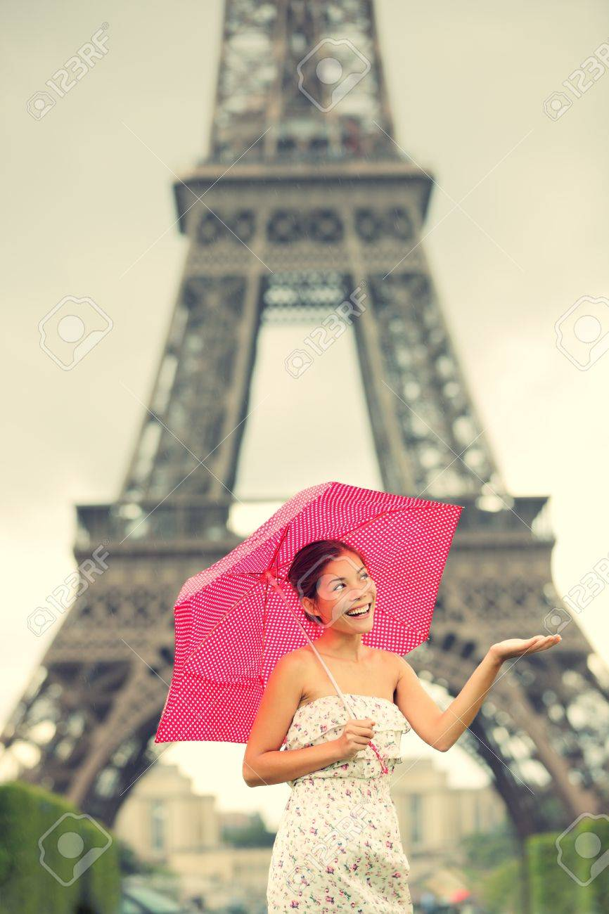 eiffel tower paris woman cute beautiful young woman in dress