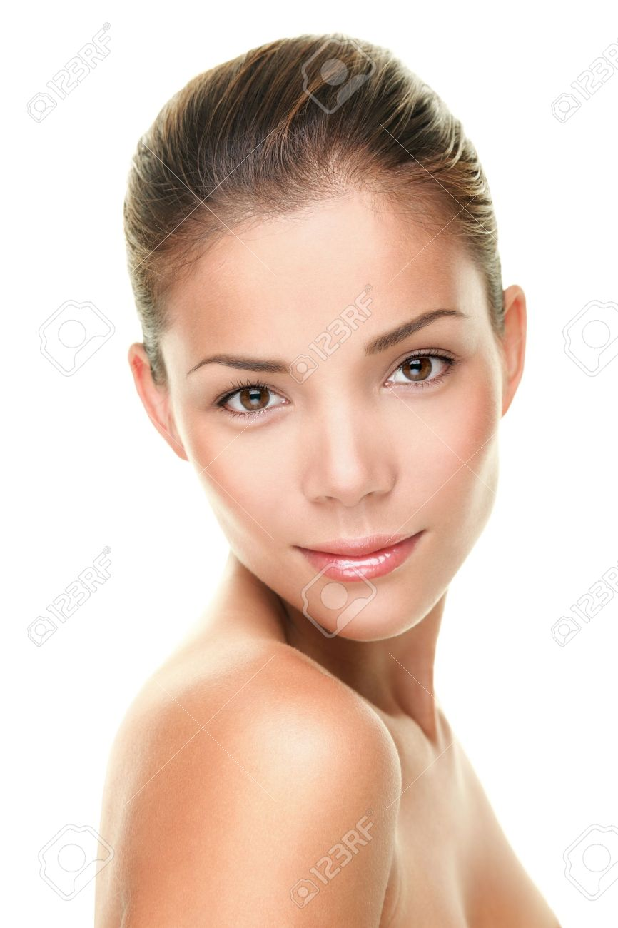 Beauty Hautpflege Gesicht Portrait der asiatischen junge Frau Standard-Bild - 20047481