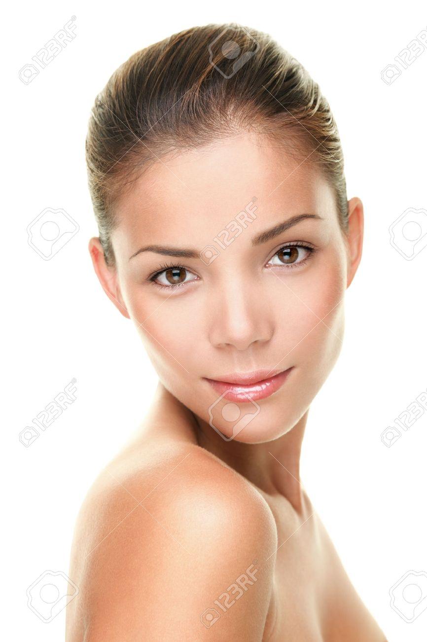 Beauty skin care face portrait of asian young woman Standard-Bild - 20047481