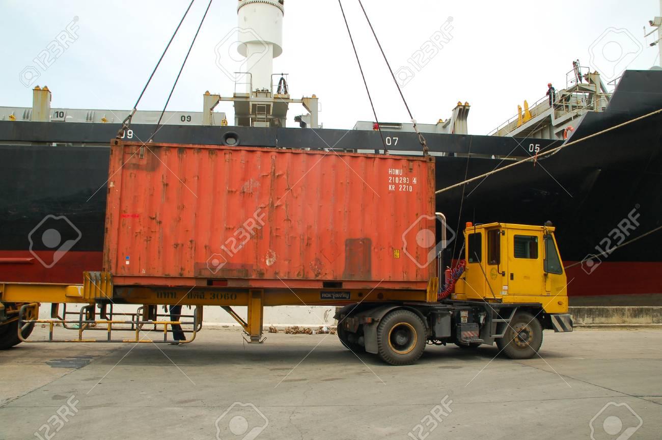 Bangkok, Thailand - 16. März 2006: Die Hafenbehörde Von Thailand ...