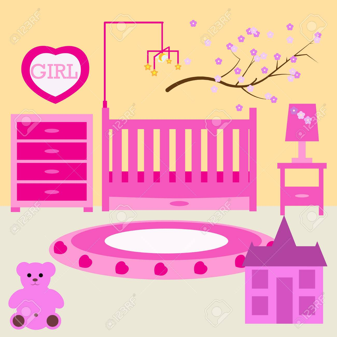Newborn Bedroom Furniture Child Room For The Newborn Girl Baby Girl Bedroom With Furniture