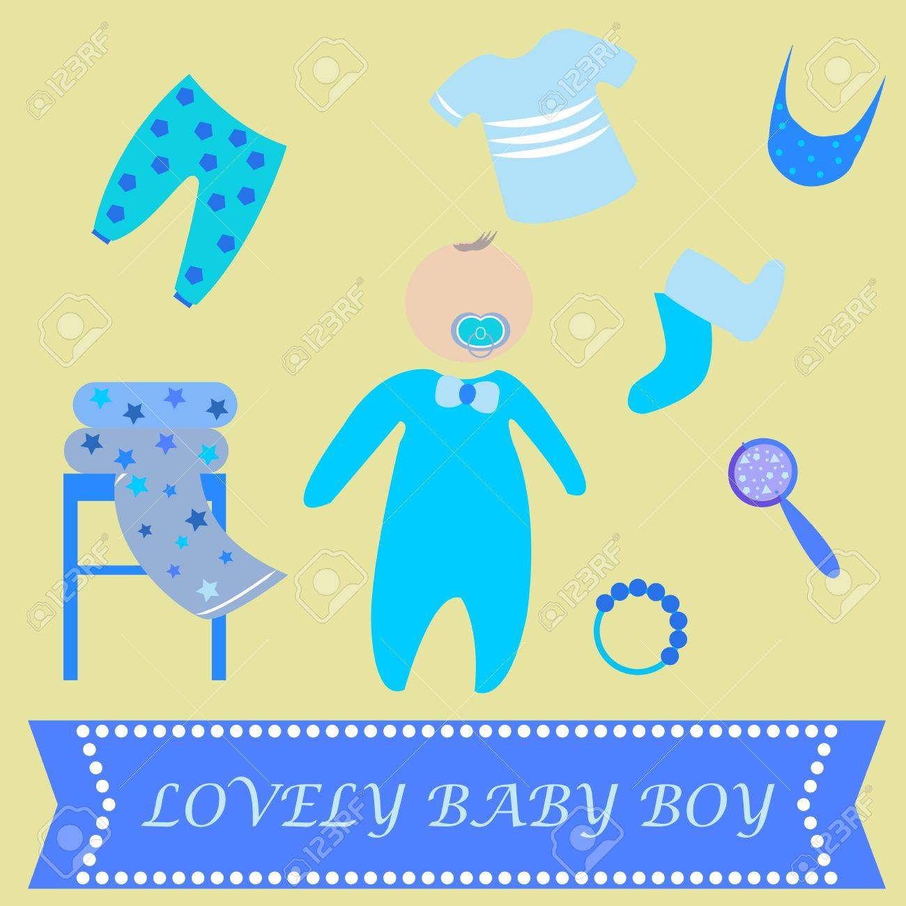 Cute Graphic For Baby Boy Baby Boy Newborn Lovely Greeting Card