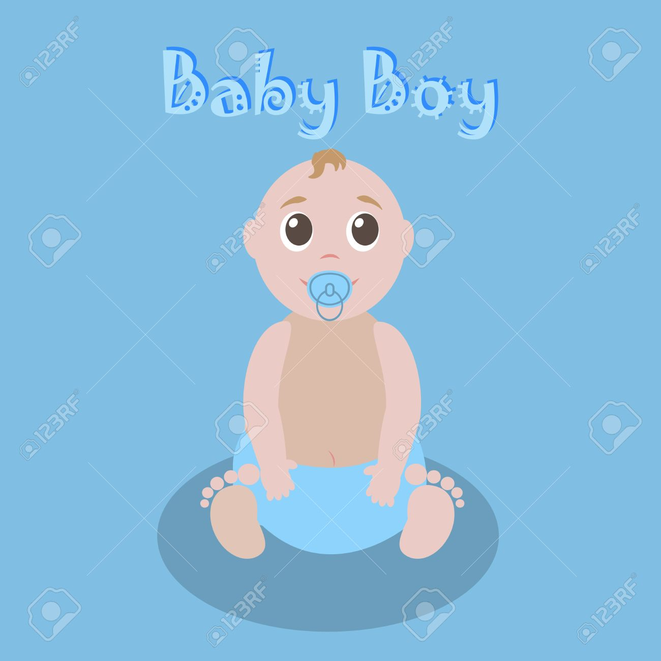 Cute Graphic For Baby Boy. Baby Boy Newborn Lovely Greeting Card ...