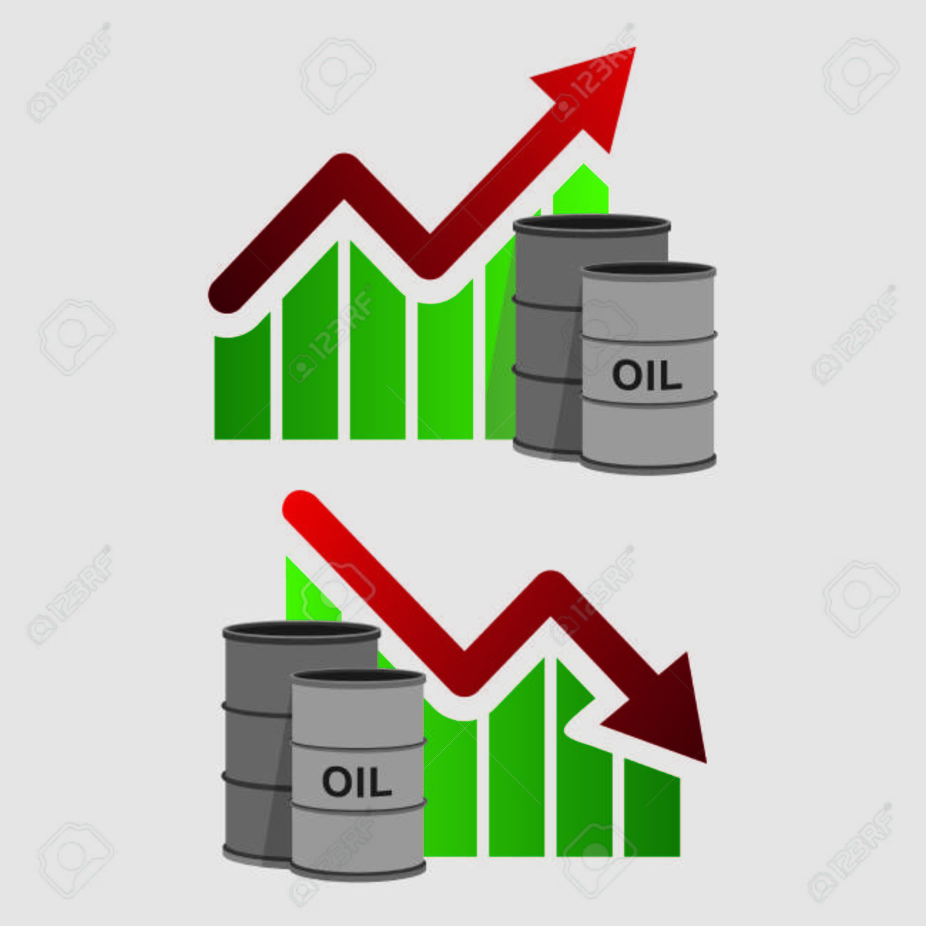 Crude oil price down abstract illustration with barrel and crude oil price down abstract illustration with barrel and diagram oil and gas production biocorpaavc Gallery
