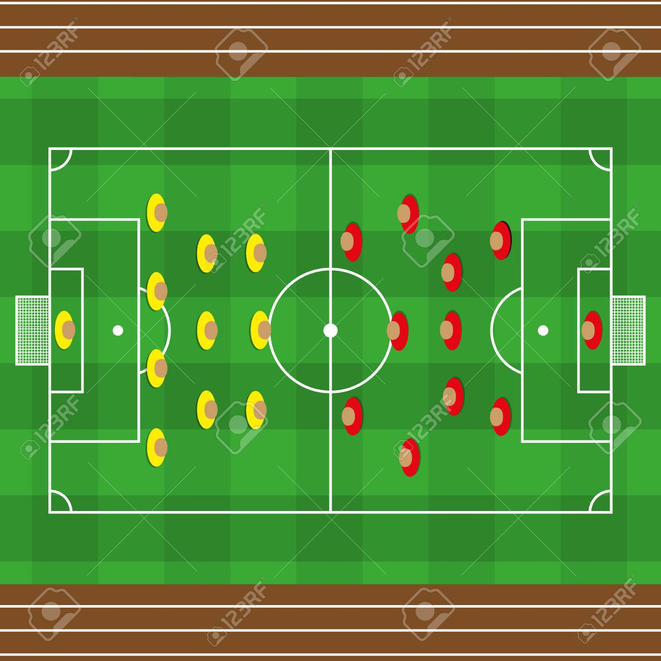 Vektor Gras American Football Feld Strukturiert Fussball