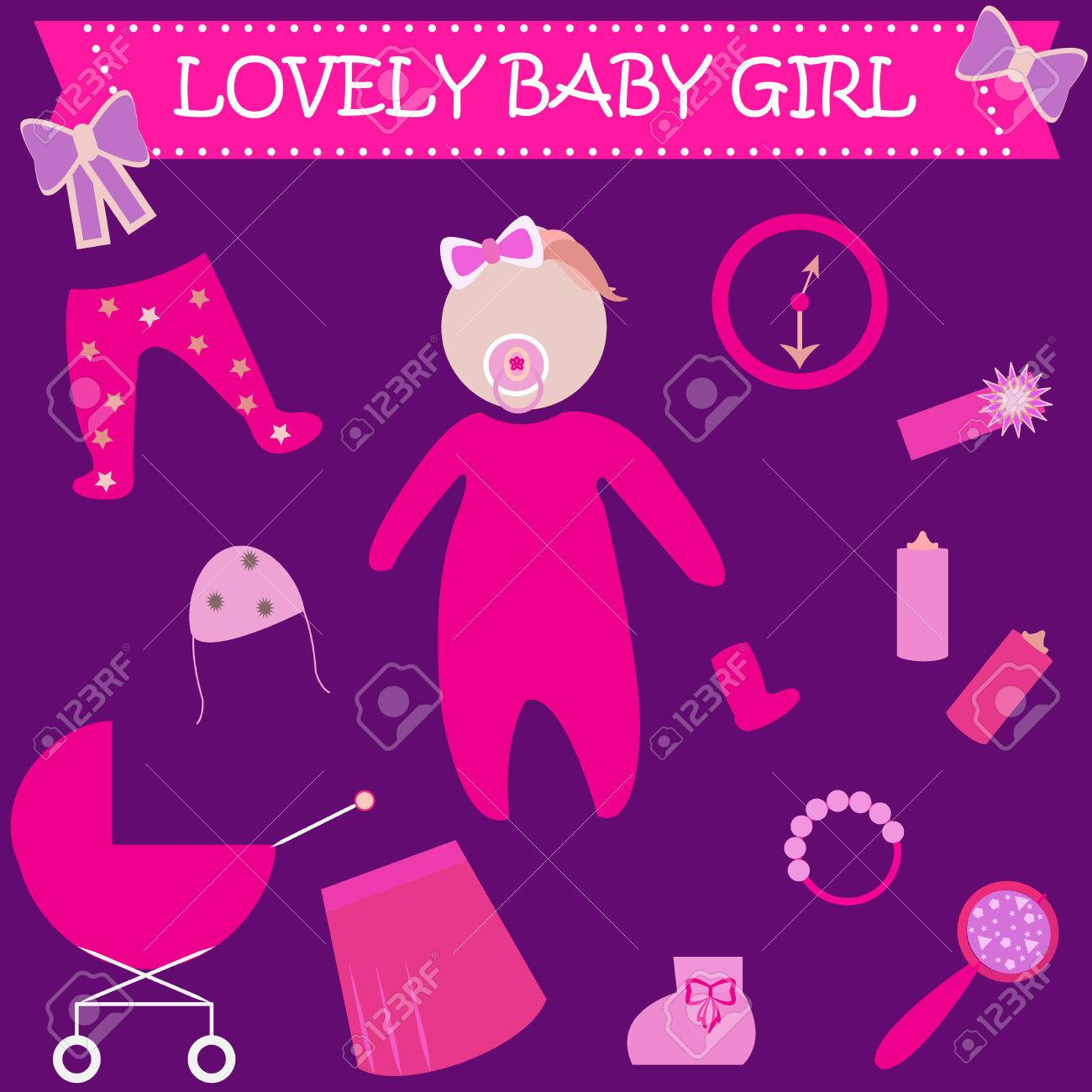 Cute Graphic For Baby Girl Baby Girl Newborn Lovely Greeting
