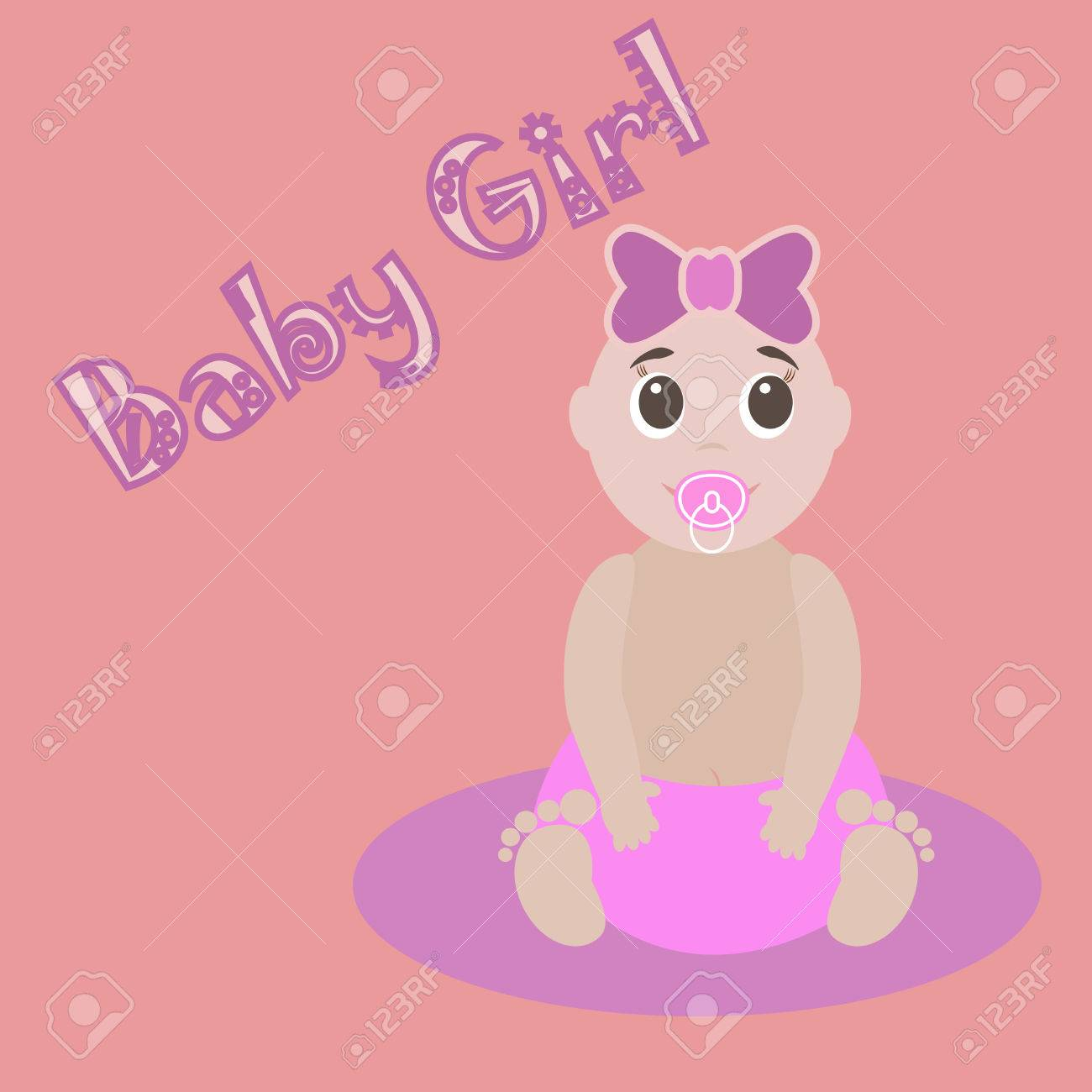 Cute Graphic For Baby Girl. Baby Girlnewborn Lovely Greeting ...