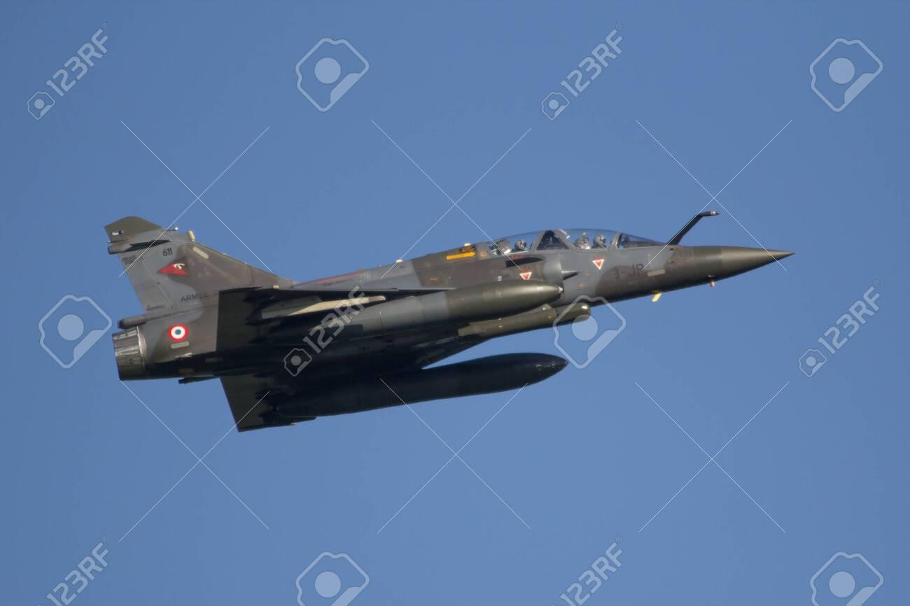 Leeuwarden, Netherlands APR 11 2016: French Dassault Mirage 2000